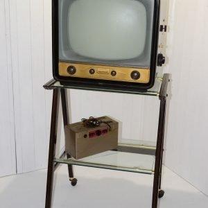 televisione telefunken anni 50 con carrello