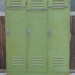 Armadietto Spogliatoio anni 70 in ferro verde