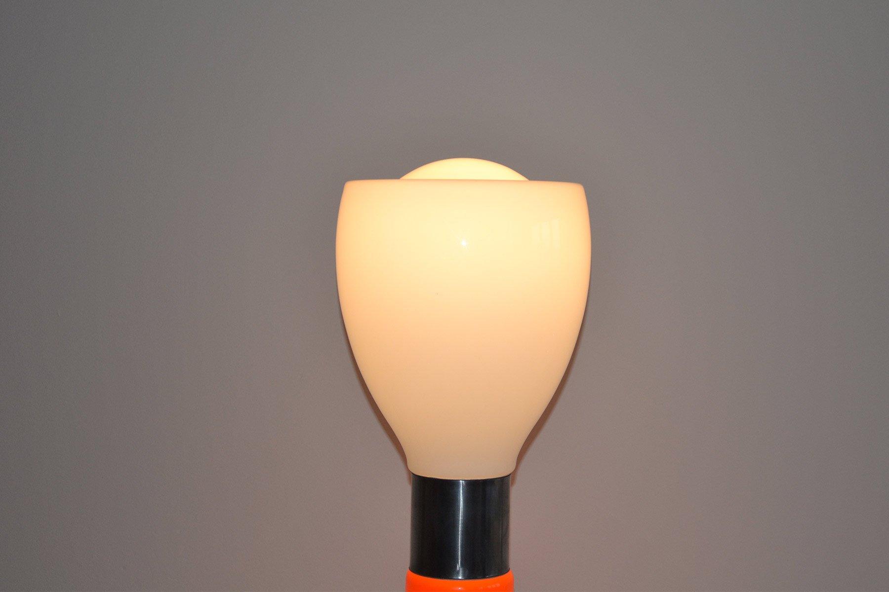 Lampada da terra nason in vetro e alluminio design carlo nason per
