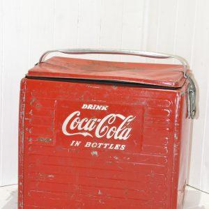 Ghiacciaia vintage portatile coca cola  anni '50