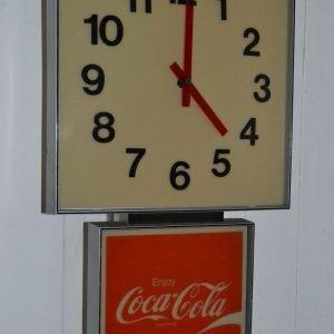 Orologio vintage coca cola da parete anni '70