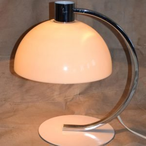 lampada da tavolo anni 70 bianca