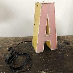 """Lettera vintage Scatolata bifacciale – """"A"""""""