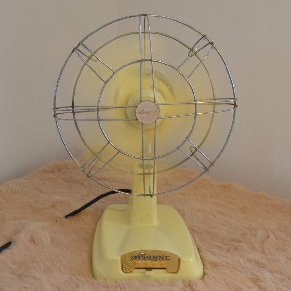 ventilatore vintage olimpic in movimento