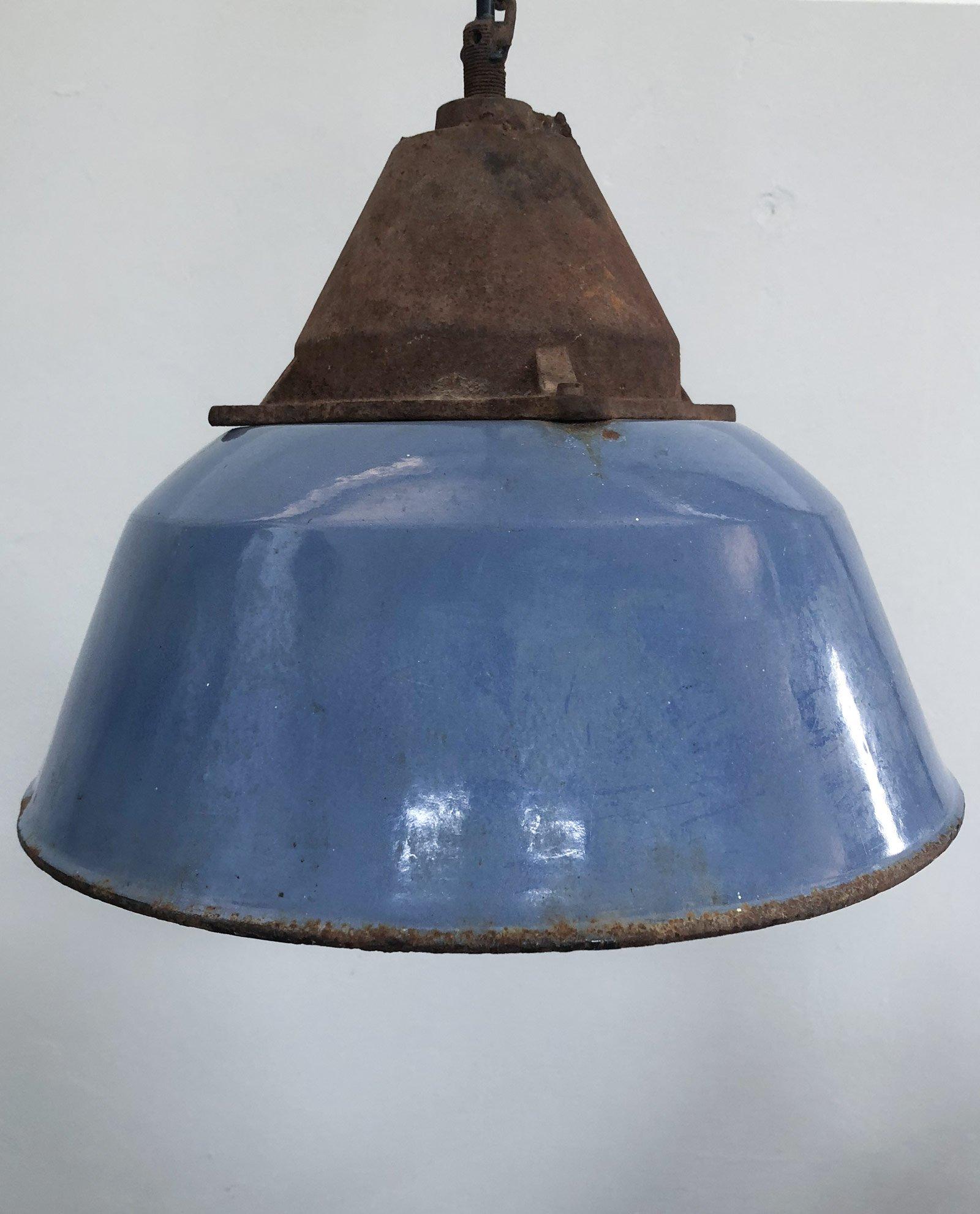 Da Cheantico Lampada Vintage Ghisa E In Ferro Smaltato Fabbrica ...