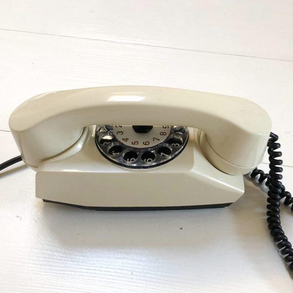 Telefono a disco anni 80 modello Chicco | Bianco