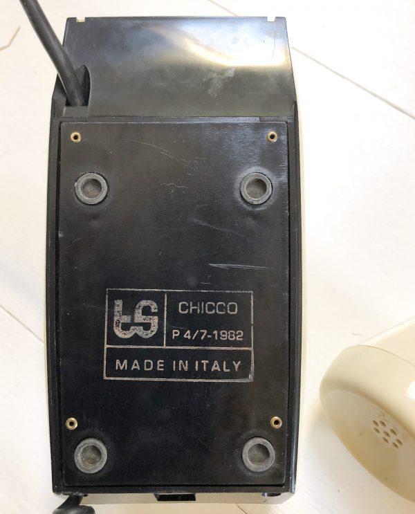 Telefono a disco anni 80 modello Chicco iscrizione