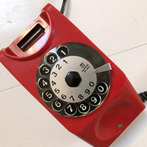 Telefono a disco anni 80 modello Chicco | Rosso