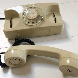 Telefono a disco bianco anni 70/80 starlite