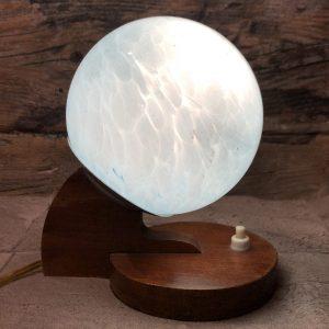 Lampada da comodino vintage in vetro
