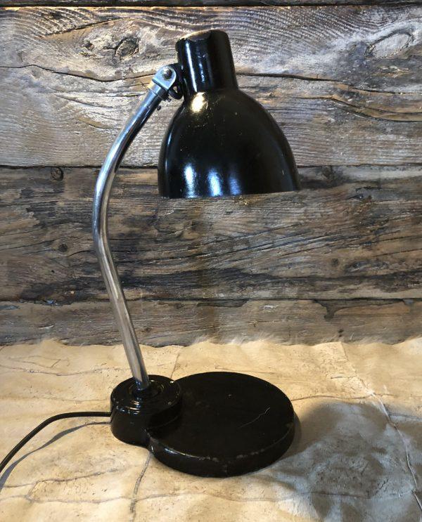 Lampada industriale da tavolo nera