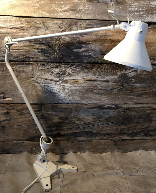 Lampada vintage industriale due bracci