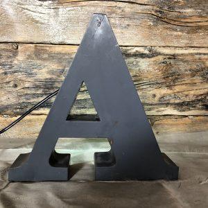 A – Lettera Vintage da Arredamento | Insegna in Ferro Retro-illuminata