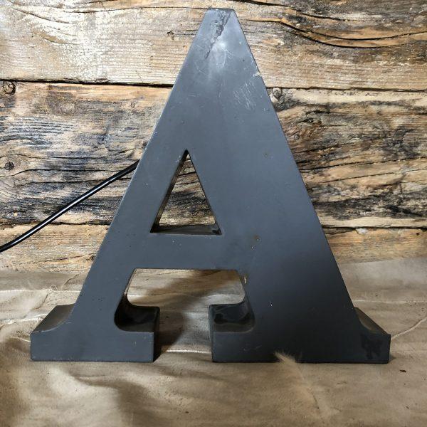 A - Lettera Vintage da Arredamento | Insegna in Ferro Retro-illuminata