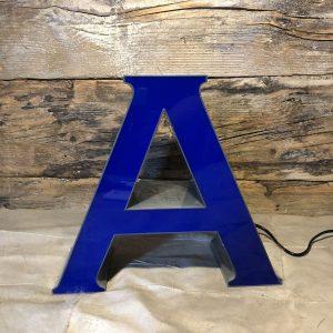 A - Lettera Vintage Insegna Grigio Blu in plexiglass