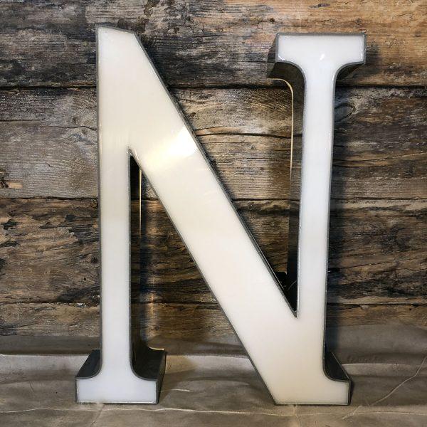 N - Lettera Vintage da Arredamento | Insegna in Plexiglass