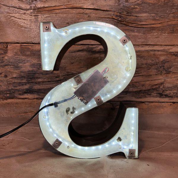 S – Lettera Vintage da Arredamento   Insegna in Ferro Retro-illuminata