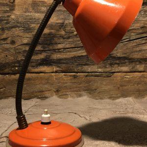 Lampada da comodino anni 60/70 arancio
