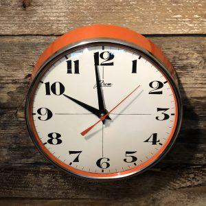 orologio da muro anni 70 arancio brom