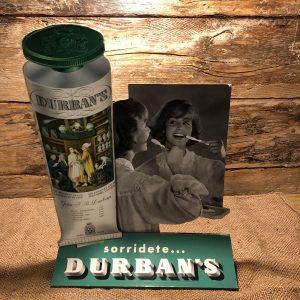 Cartello Vetrina Vintage anni 50 | Sorridete Durban's