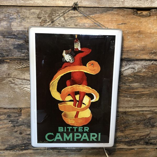 Insegna vintage luminosa | Bitter Campari (da manifesto Cappiello)