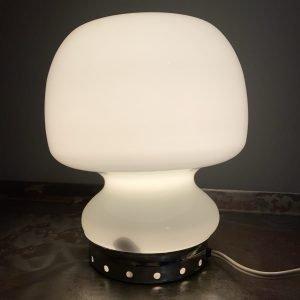 lampada da tavolo space age anni 70 in vetro