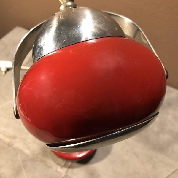 lampada eyeball space age rossa dettaglio sopra