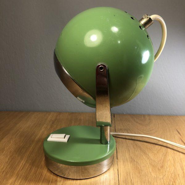 lampada vintage verde eyeball anni 60/70 spaceage