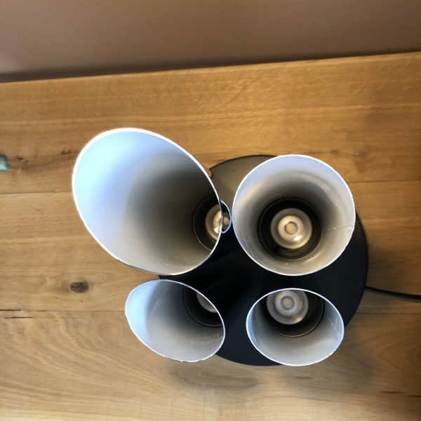 lampada upcycling da portaombrelli anni 70