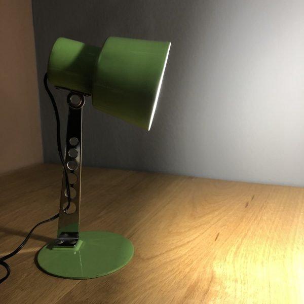 Lampada vintage da comodino verde