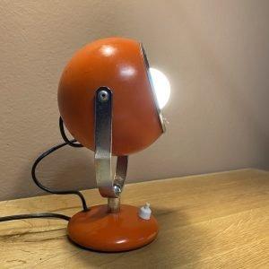 lampada eyeball arancio vintage