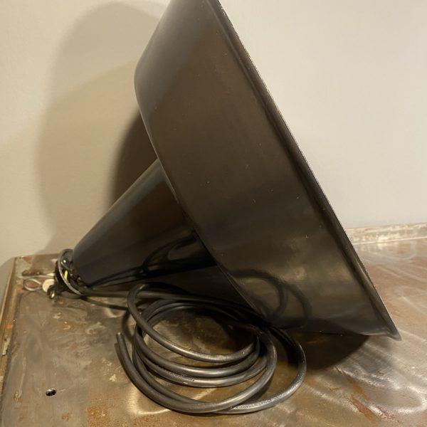 lampadario industriale vintage a campana in ferro smaltato